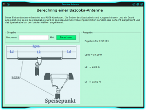 bazooka antennen programm linux amateurfunk mit dl8aax. Black Bedroom Furniture Sets. Home Design Ideas